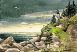 Watercolors - Bass Harbor Sentinel