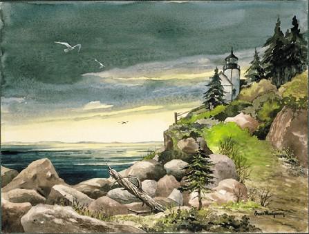 Watercolors - Bass Harbor Sentinel