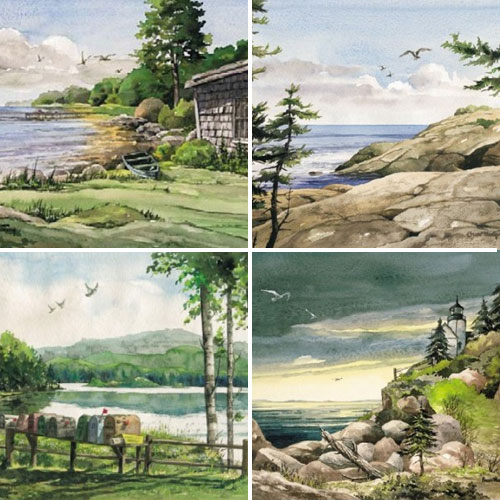 Assorted Watercolor Notecards - Maine Series